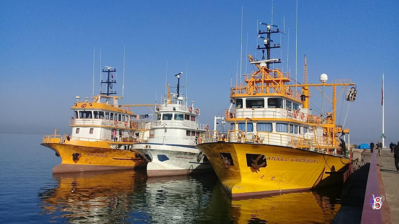 Bulancak'ta balıkçı gemileri